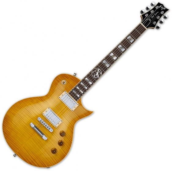 ESP Alex Skolnick Flamed Maple Signaure Electric Guitar Lemon Burst, EALEXSLB