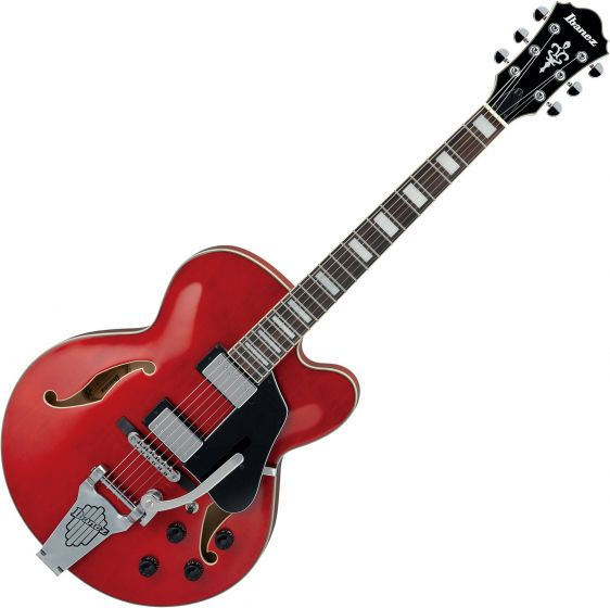 Ibanez Artcore AFS75T Hollow Body Electric Guitar Transparent Cherry Red, AFS75TTCD