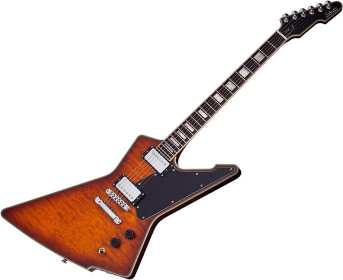 Schecter E-1 Custom Special Edition Electric Guitar in Vintage Sunburst Finish[, 3105]