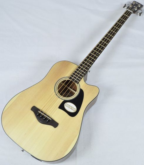 Ibanez AWB50CE-LG Artwood Series Acoustic Electric Bass in Natural Low Gloss Finish, AWB50CELG