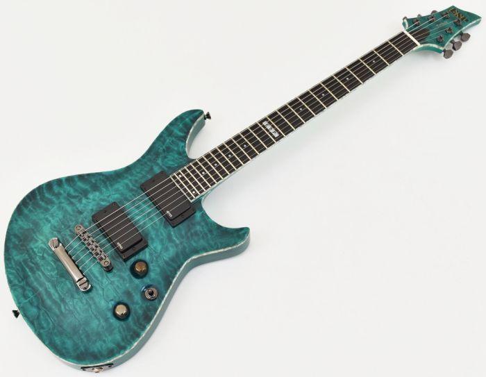 ESP Formula NT Electric Guitar in See Thru Turquoise, EFORMULASTT