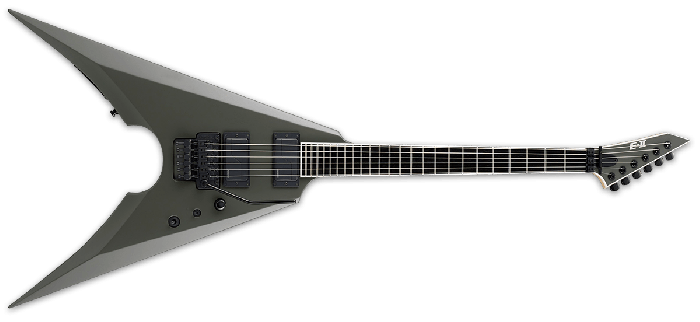 ESP E-II MK-I Mille Petrozza Electric Guitar in Military Green Satin, EIIMKIMGS