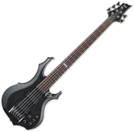 ESP LTD F-415FM Bass in See-Through Black[, F-415FM STBLK]