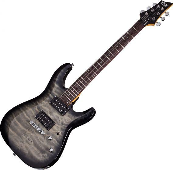 Schecter C-6 Plus Electric Guitar Charcoal Burst, 446