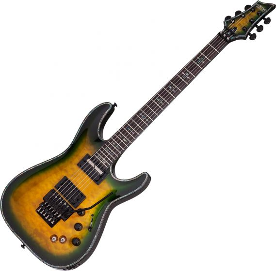 Schecter Hellraiser Passive C-1 FR S Electric Guitar in Dragon Burst Finish[, 1950]