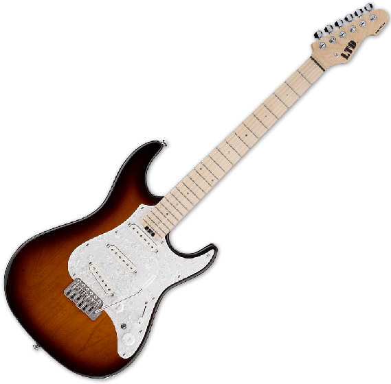 ESP LTD SN-1000 Electric Guitar in Tobacco Sunburst, LTD SN1000W TBS