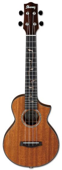 Ibanez UEW1MH Solid Mahogany Concert Ukulele w/ Bag and Fishman Pickup, UEW1MH