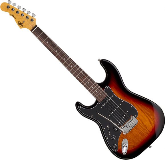 G&L Tribute Legacy Left-Handed Electric Guitar 3-Tone Sunburst, TI-LGY-121L20R23