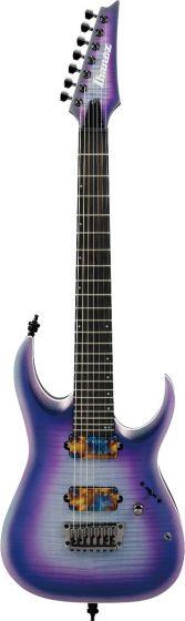 Ibanez RGA71AL IAF RGA Axion Label 7 String Indigo Aurora Burst Flat Electric Guitar, RGA71ALIAF