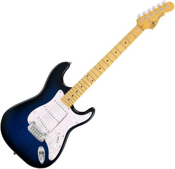 G&L Tribute Legacy Guitar in Blueburst Maple, LGCY.MP.BLB-A
