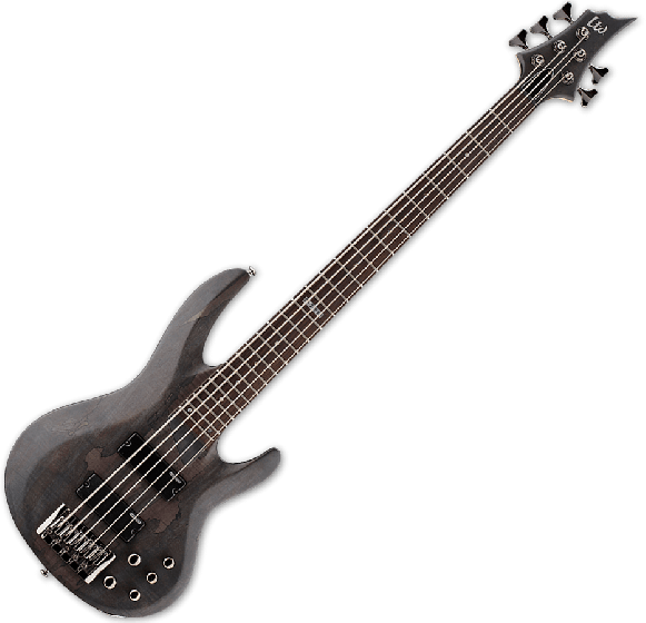 ESP LTD B-205SM Electric Bass in See Thru Black Satin B-Stock[, B-205SM-STBLKS.B]