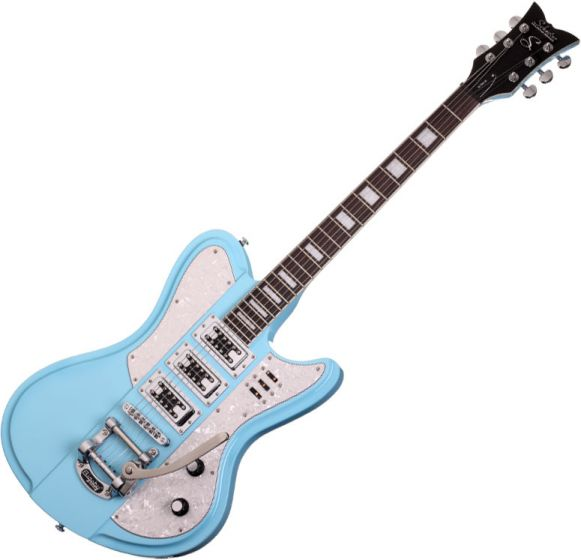 Schecter Ultra-III Electric Guitar in Vintage Blue Finish[, 3155]