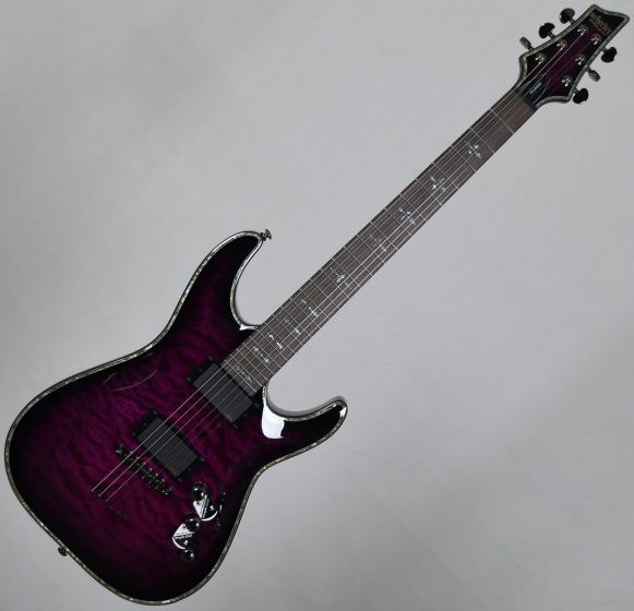 Schecter Hellraiser C-1 Electric Guitar in Trans Purple Burst Finish, 3118