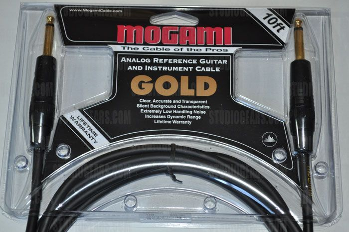 Mogami Gold Instrument Cable 10 ft., Gold-Instrument-10