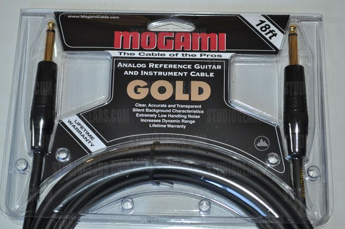 Mogami Gold Instrument Cable 18 ft., Gold-Instrument-18