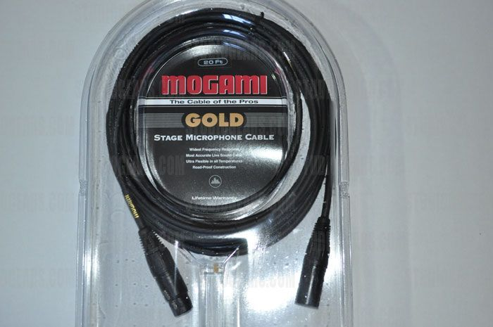 Mogami Gold Stage Cable 20 ft., GOLD STAGE-20