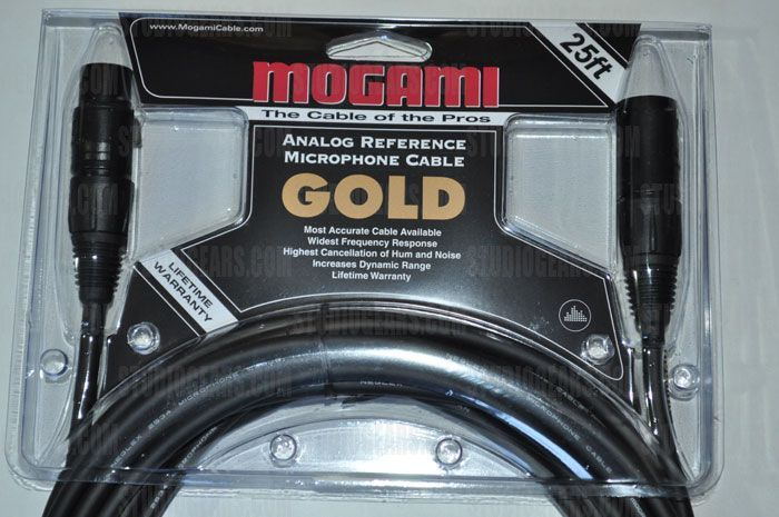 Mogami Gold Studio Cable 25 ft., GOLD STUDIO-25