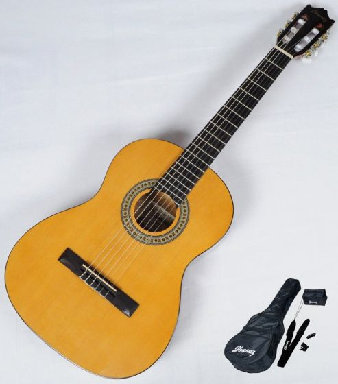 Ibanez IJC30 JAMPACK Nylon Acoustic Guitar Package in Amber High Gloss Finish B-Stock GS141003415, IJC30.B 3415