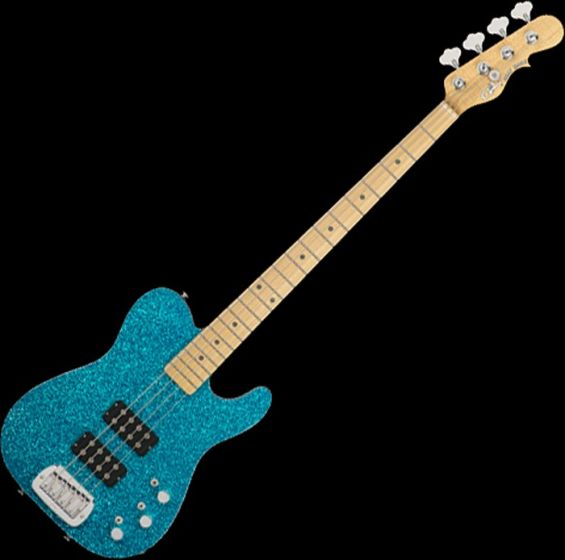 G&L USA ASAT Tom Hamilton Electric Bass in Turquoise Metal Flake, G&L USA ASAT Turquoise Flake