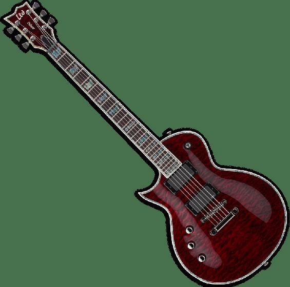 ESP LTD EC-1000 STBC Lefty Guitar in See Thru Black Cherry, EC-1000STBC LH