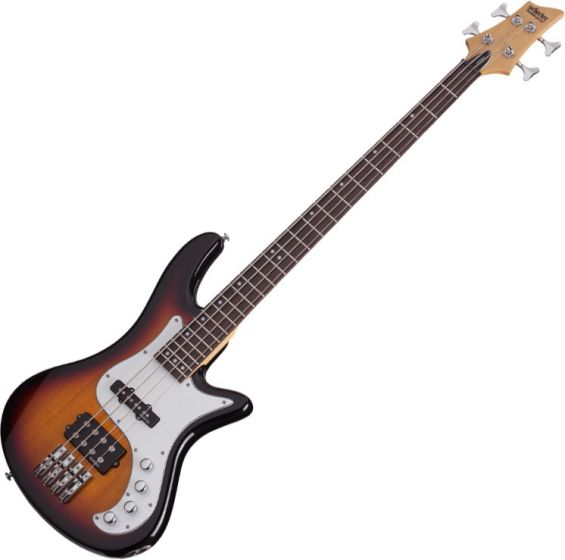 Schecter Stiletto Vintage-4 Electric Bass 3-Tone Sunburst, 2524