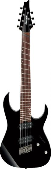 Ibanez RG RGMS7 BK Multi Scale 7 String Black Electric Guitar, RGMS7BK