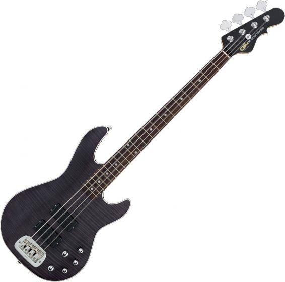 G&L Tribute M-2000 GTS Electric Bass Trans Black, TI-M20-C38R43R00