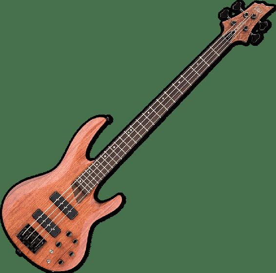 ESP LTD B-1004SE Bubinga Top Electric Bass in Natural Satin, LTD B-1004SE NS