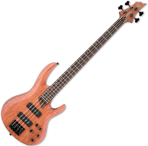 ESP LTD B-1004SE Bubinga Top Electric Bass in Natural Satin B-Stock, LTD B-1004SE NS.B