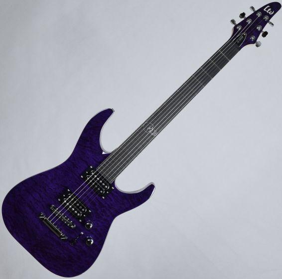 ESP LTD Rob Caggiano RC-600QM Signature Electric Guitar See Thru Purple, LRC600QMSTP