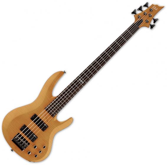 ESP LTD B-155DX Flamed Maple Top 5-String Electric Bass Honey Natural, LB155DXHN