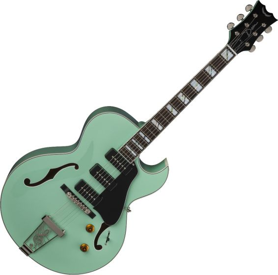 Dean Palomino Hollow Body Electric Guitar Sea Green, PALOMINO SG