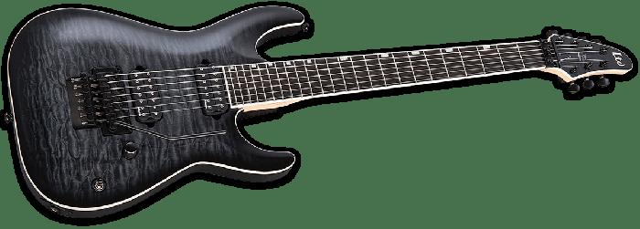 ESP LTD BS-7B Ben Savage 7 strings Baritone Electric Guitar in See Thru Black Sunburst, LTD BS-7B STBLKSB