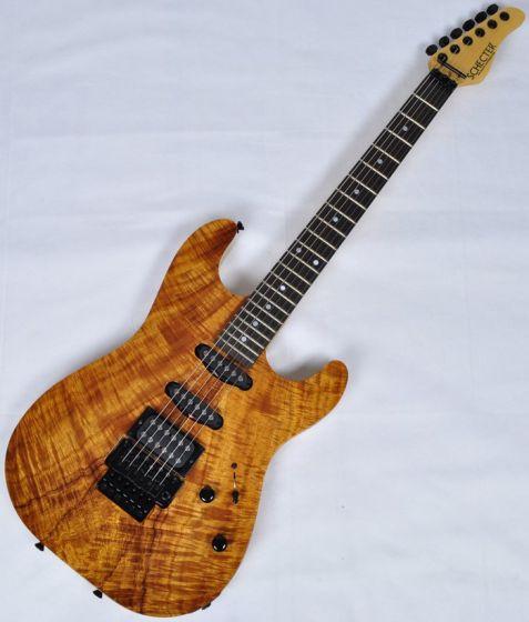 Schecter CET Koa Natural Gloss USA Custom Shop Electric Guitar, USACETKNATSD