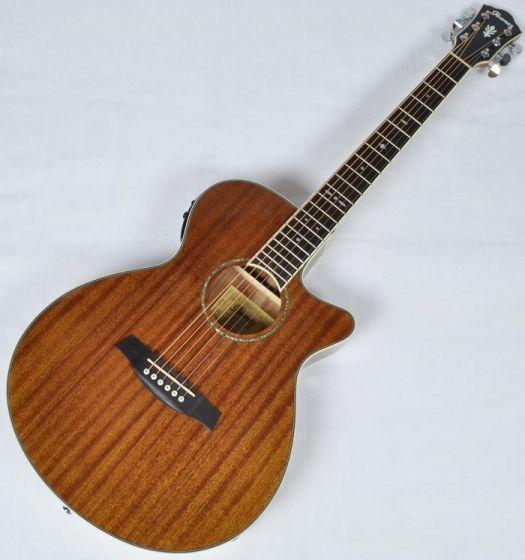Ibanez AEG12II-NT AEG Series Acoustic Electric Guitar in Natural High Gloss Finish, AEG12IINT