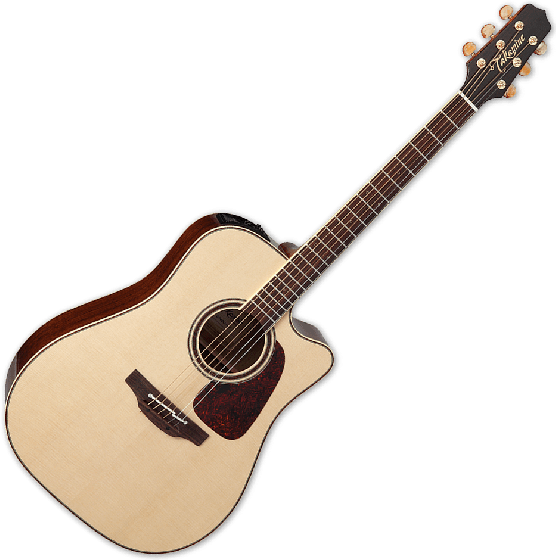 Takamine CP4DC-OV Dreadnought Acoustic Guitar with Cutaway in Natural Finish, TAKCP4DCOV