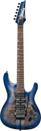 Ibanez S Premium S1070PBZ CLB Cerulean Blue Burst Electric Guitar w/Case, S1070PBZCLB