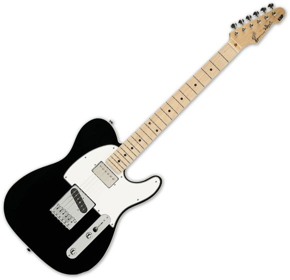 ESP Ron Wood Black Guitar with Case, ESP RON WOOD BLK