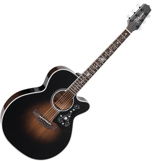 Takamine EF450C-TT NEX Acoustic Guitar Transparent Black Burst[, TAKEF450CTTBB]