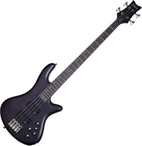 Schecter Stiletto Studio-4 Electric Bass See-Thru Black Satin, 2711