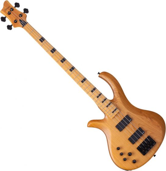 Schecter Session Riot-4 Left-Handed Electric Bass in Aged Natural Finish, 2856