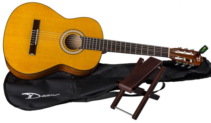 Dean Classical Acoustic Guitar Pack w/Gig Bag & Foot Stool PC PK, PC PK