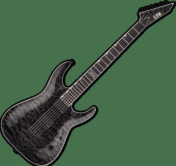 ESP LTD MH-401NT QM Electric Guitar in See Thru Black B-Stock, MH-401NT QM STBLK