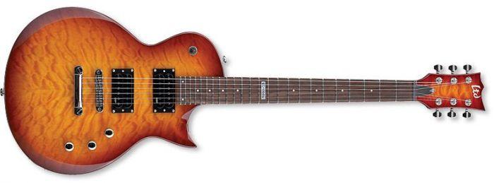 ESP LTD EC-100QM Quilt Maple Faded Cherry Sunburst Guitar B-Stock, EC-100QM FCSB.B