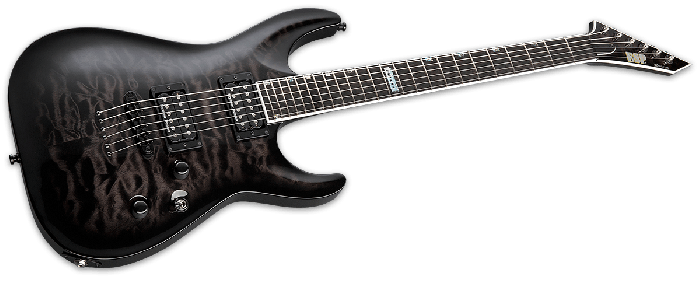 ESP USA Horizon-II Electric Guitar in See Thru Black Sunburst Duncan, USA Horizon STBLKSB Duncan
