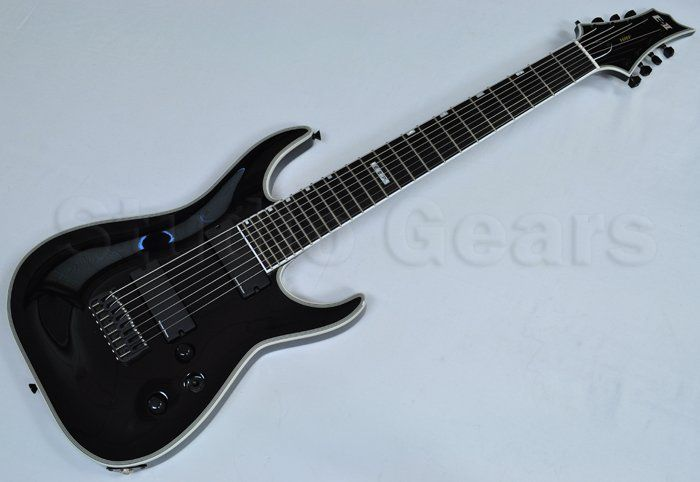 ESP E-II HRF-NT8 B BLK 8-String Baritone Electric Guitar, EIIHRFNT8BBLK