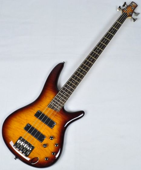Ibanez SR400QM-BBT SR Series Electric Bass in Brown Burst Finish, SR400QMBBT