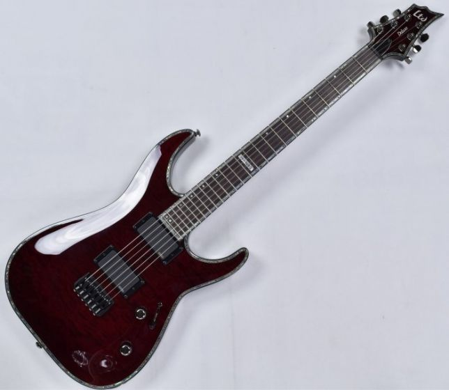 ESP LTD Deluxe H-1000 QM Electric Guitar in See Thru Black Cherry B-Stock, H-1000 STBC.B