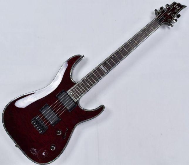 ESP LTD Deluxe H-1000 QM Electric Guitar in See Thru Black Cherry, H-1000 STBC