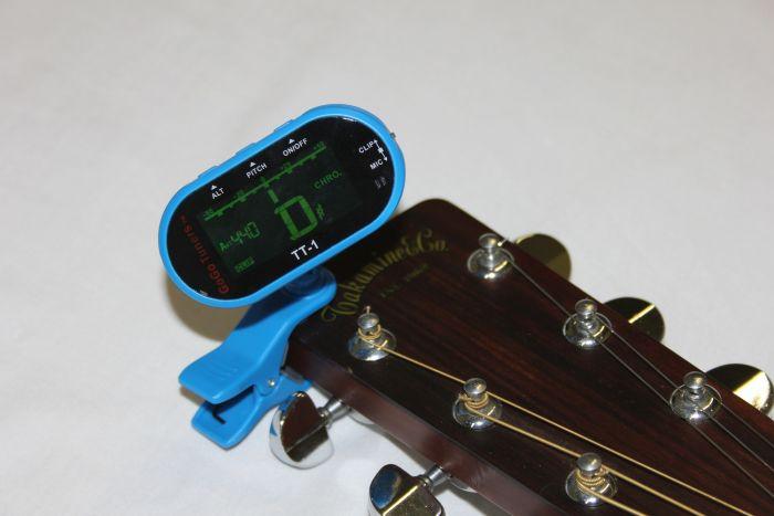 GoGo Tuners Blue TT-1 Chromatic Guitar, Bass, Violin, Viola Tuner, TT-1Blue
